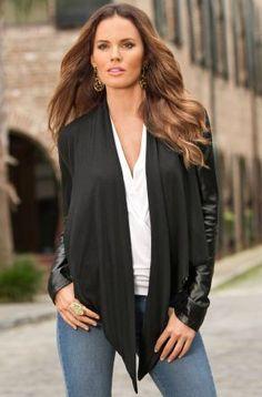 Drapey leather jacket