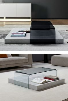 Low rectangular coffee #table RIBBON by Bonaldo | #design Mauro Lipparini @bonaldo