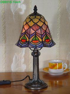Peacock Tiffany Lamp8S28-5T410