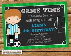 Invitación de fútbol Invitación del campo por ThePaperGiraffeShop