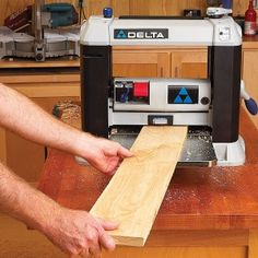 Woodworking jointers and planers are key to milling straight, square lumber for your woodworking projects. Learn tips and techniques for getting the most out of your jointer and planer. Woodworking Planer, Wood Planer, Woodworking Furniture, Fine Woodworking, Woodworking Crafts, Carpentry, Woodworking Organization, Woodworking Equipment, Woodworking Videos