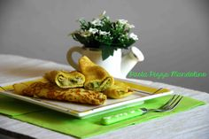 Ham and asparagus palacinche