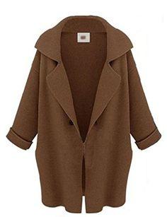 ReliBeauty Women's Over-sized Fold-up Cuff Wide Collar Cardigan (Medium, Brown) ReliBeauty http://www.amazon.com/dp/B00NID6MB2/ref=cm_sw_r_pi_dp_lMZAub1KKDVGM