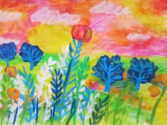 Cassie Stephens: In the Art Room: Claire West-Inspired Landscape Lesson