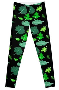 Kale leggings for kids at Redbubble. nice alternative to the donuts and pop tarts!