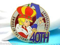 Rare-Disney-Sword-in-the-Stone-40th-Anniversary-3D-Pin-WDW #WDW #Swordinthestone #Disney