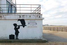 Pintada de Banksy en Calais