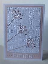 embossing folder birthday card - Yahoo Image Search Results
