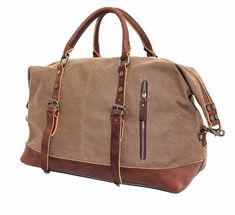 Vintage military Canvas Leather men travel bags Carry on Luggage bags Men Duffel bags travel tote large weekend Bag Overnight Canvas Travel Bag, Canvas Duffle Bag, Travel Bags Carry On, Mens Travel Bag, Leather Duffle Bag, Duffle Bag Travel, Tote Bag, Travel Tote, Duffel Bags