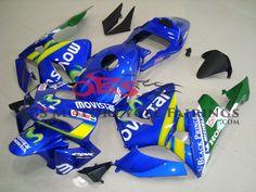 Movistar 2003-2004 Honda CBR600RR Kings Motorcycle Fairings Honda, Motorcycle, Kit, Biking, Motorcycles, Engine, Choppers, Motorbikes