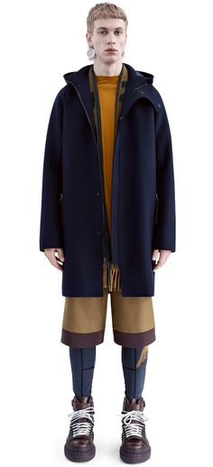 Milton navy raw cut wool coat #AcneStudios #FW15 #menswear