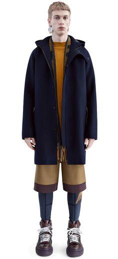 Milton navy raw cut wool coat #AcneStudios #FW15 #menswear