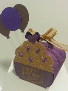 Birthday Curvy keepsake box Stamp'in Up
