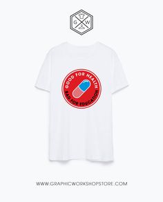 Good For Health Bad For Education 2 T-Shirt // Akira Neo Tokyo Explosion Kaneda Cyber Punk Goth Japanese Manga Evangelion Ghost In The Shell