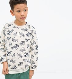 Image 1 of Animal print sweatshirt. from Zara