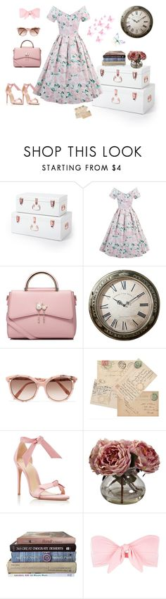 """""""Vintage dress"""" by pebadeba ❤ liked on Polyvore featuring WithChic, Victoria Beckham, Alexandre Birman, Nearly Natural, Ephemera and vintage"""