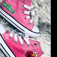 0d9b0e8ff07e Elmo inspired Shoes - personalized chuck taylors - customized converse -  Birthday swag low top converse - Birthday outfit