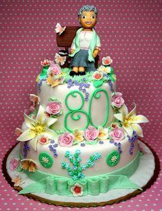 80th Birthday Cake for Grandmother http://www.pinkcakeland.co.uk