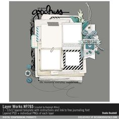 Layer Works No. 765 layered scrapbook page sketch in layered PSD and PNGs for easy scrapbooking #designerdigitals