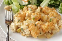 Make and share this Chicken Tater Tot Casserole recipe from Food.com.  made with yogurt and broccoli.