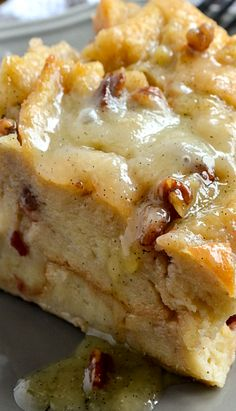 Bread Pudding with Vanilla Bean Sauce!!