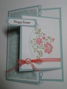 Easter card using a fancy fold.