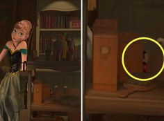 7.) A little Mickey Mouse doll also appears in Frozen.