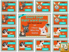 Smart Dogs Sight Word Game *Third Grade Dolch List words *I have...Who Has? Game ~ Visit Teacher Treasure Hunter on TPT for more classroom resources.