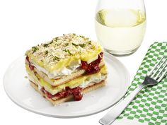 April Fools' Lasagna: Banana-Pudding Cake recipe from Food Network Kitchen via Food Network