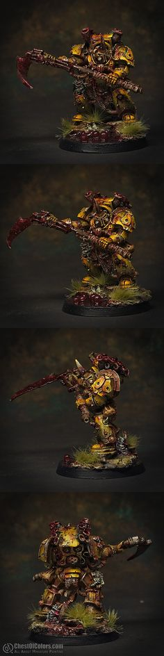 Typhus, Herald of Nurgle [Games Workshop]  Painted by Slawol, 2012,  level 4