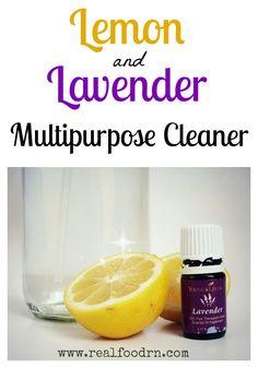 Lemon Lavender Homemade Multipurpose Cleaner