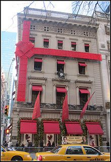 cartier nyc Christmas bow