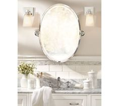 Kensington Pivot Oval Mirror Tile Pattern For Master Bath Reno