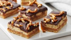Brunch: A lovely excuse to eat dessert with breakfast. Keep it simple and make these treats the day before. Nothing fancy, just really delicious. Cookie Brownie Bars, Cookie Desserts, Just Desserts, Cookie Recipes, Dessert Recipes, Potluck Desserts, Pillsbury Recipes, Baking Recipes, Yummy Treats