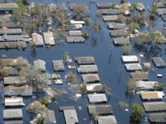 Houses under water after Katrina