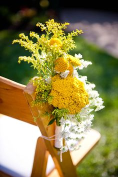 yellow aisle flowers