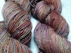 Lady Mechanika in Kells sock yarn, 85% superwash merino, 15% nylon