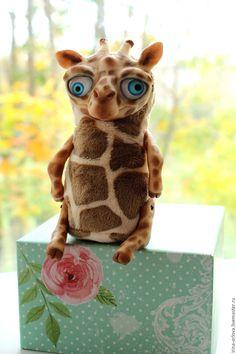 Купить Плюшевый жираф Иван - комбинированный, жираф, чудик, игрушка, хендмейд игрушка, мягкая игрушка