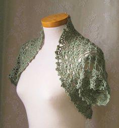 Crochet pattern, Short sleeved shrug, PDF $5.00