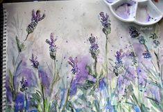 Watercolor Tattoo, Art Drawings, Lavender, Paintings, Tattoos, Artist, Tatuajes, Paint, Painting Art