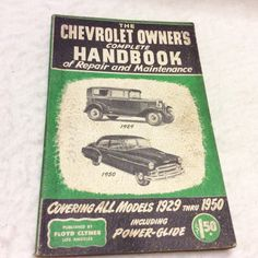 A personal favorite from my Etsy shop https://www.etsy.com/listing/467481223/1950-chevrolet-owners-complete-handbook