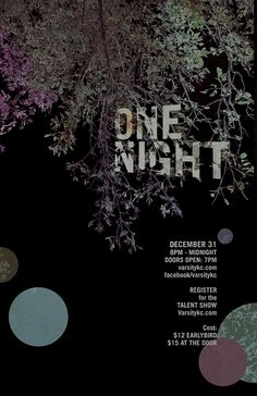 One Night Poster | Flickr - Photo Sharing!