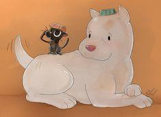 Kitbull by pridark on DeviantArt Cute Kawaii Drawings, Cartoon Drawings, Cartoon Movie Characters, Creature Drawings, Anime Animals, Cute Disney Wallpaper, Cute Comics, Cute Creatures, Disney Fan Art