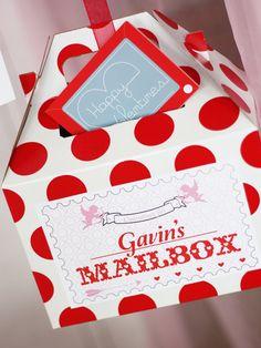 Great Valentine's Day mailbox #valentines #mailbox #red #cute.