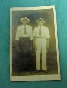 1930's Mobile AL Davis Avenue Studio? African American Black 2 Men Photo PC VTG