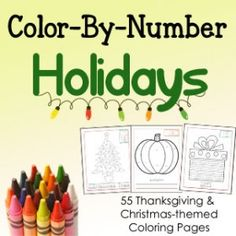 Color By Number Holidays Edition!