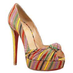 Christian Louboutin Greissimo Pumps Multi Color Womens Heels
