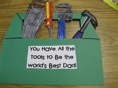 Toolbox card for Father's Day