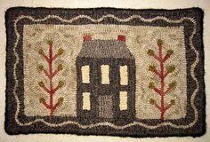 Rug Hook Kit  Little House Dark by Motifsbyhand on Etsy, $85.00