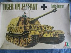 1960's Italaerei 1/35 Scale German Tiger (P) Elephant Tank Hunter Model by MyHillbillyWays on Etsy